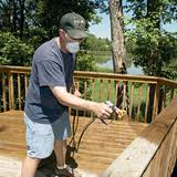 Staining decks