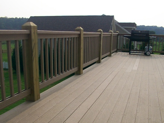 Composite railings with 6x6 posts