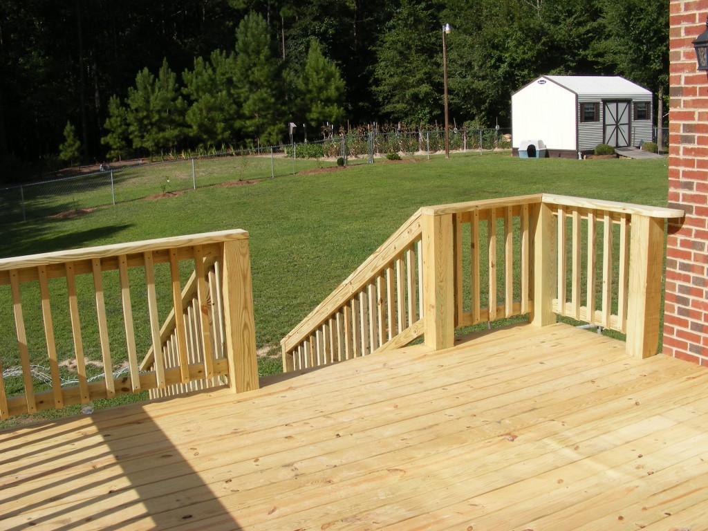 power wash image of deck