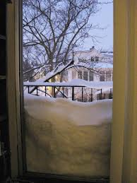 snow on storm doors