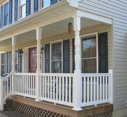 vinyl handrails and porch columns