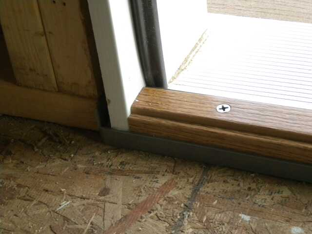 Replacing Door Threshold Adjustment