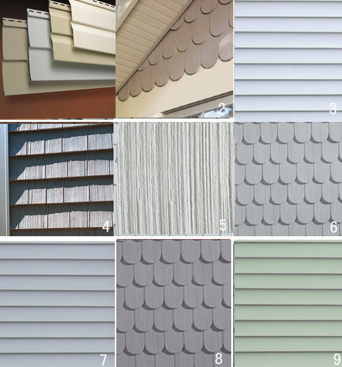 types of siding vinyl