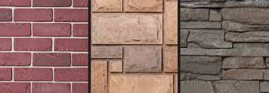 brick and stone types of siding