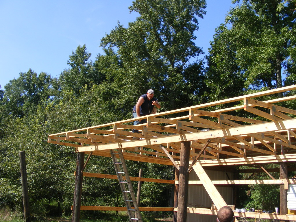 installing a purlin on rafters