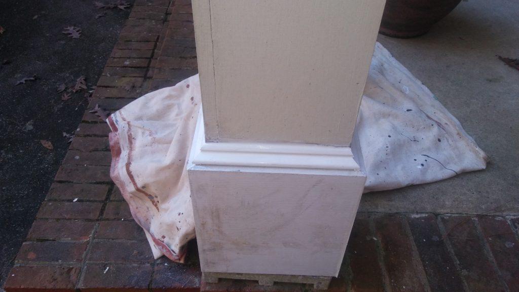 repairing a column base